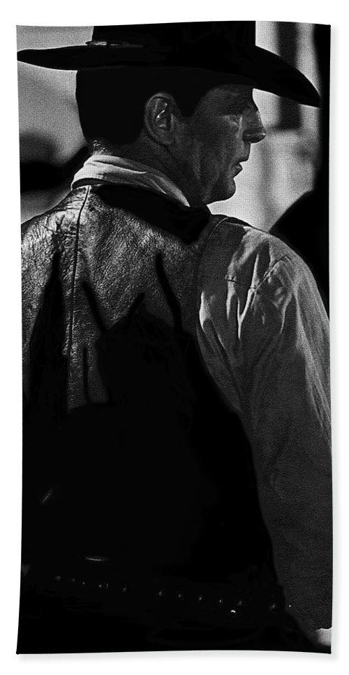 Robert Mitchum Young Billy Young Set Old Tucson Arizona John Wayne El Dorado Thunder Road Orson Welles Hand Towel featuring the photograph Robert Mitchum Young Billy Young Set Old Tucson Arizona by David Lee Guss