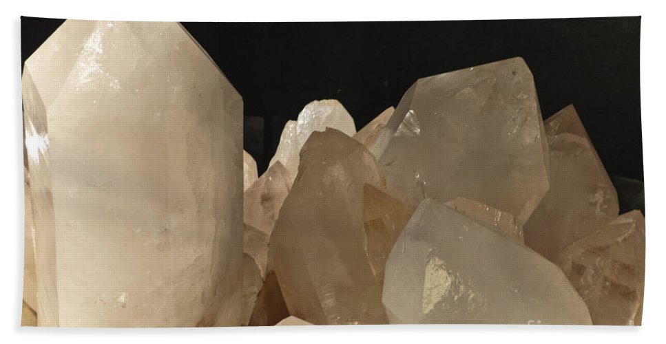 Heiko Bath Sheet featuring the photograph Rock Crystals by Heiko Koehrer-Wagner