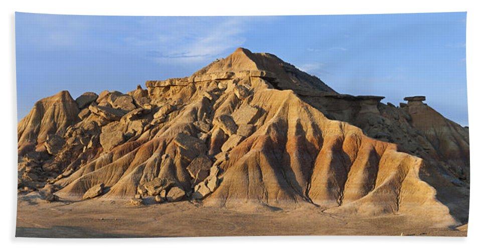 Albert Lleal Bath Towel featuring the photograph Rock Formation Bardenas Reales Navarra by Albert Lleal