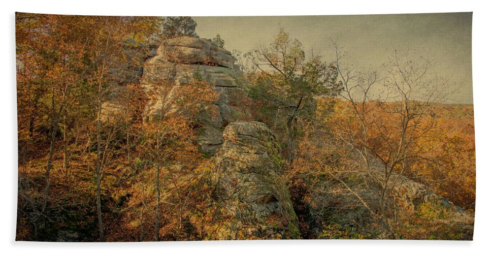 Shawnee National Forest Hand Towel featuring the photograph Rock Formation by Sandy Keeton