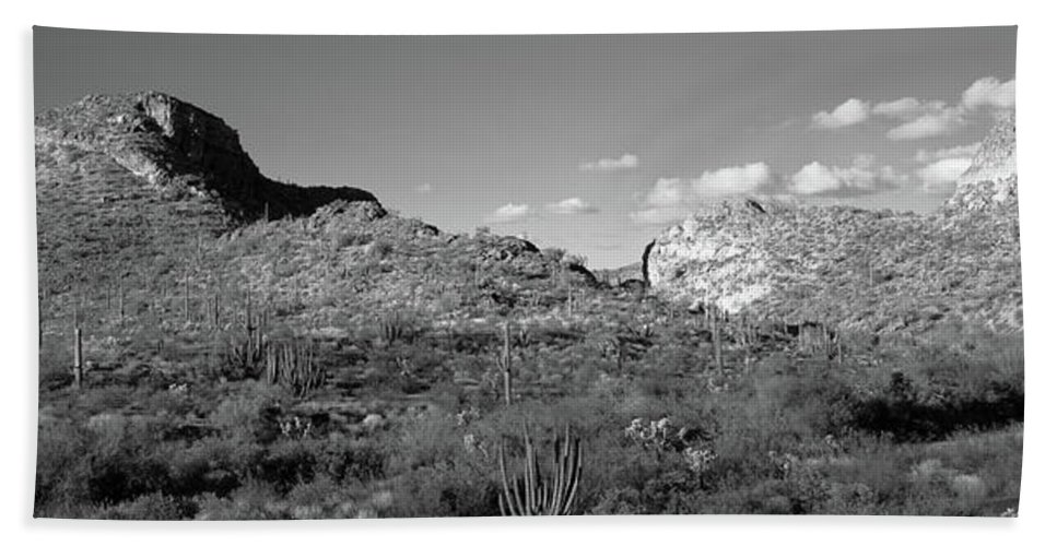 Photography Hand Towel featuring the photograph Rock Formations, Ajo Mountain Drive by Panoramic Images