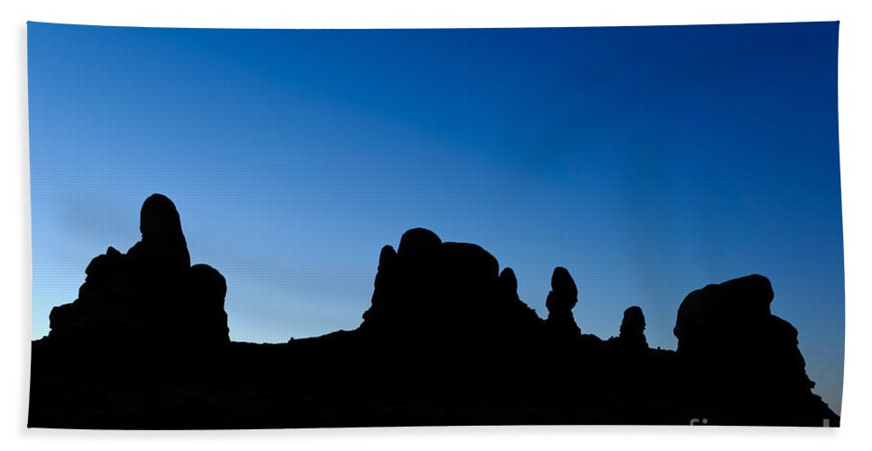 Nature Bath Sheet featuring the photograph Rock Formations, Arches National Park by John Shaw