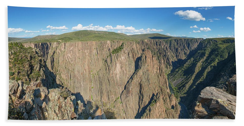 Photography Bath Sheet featuring the photograph Rock Formations In Black Canyon by Panoramic Images