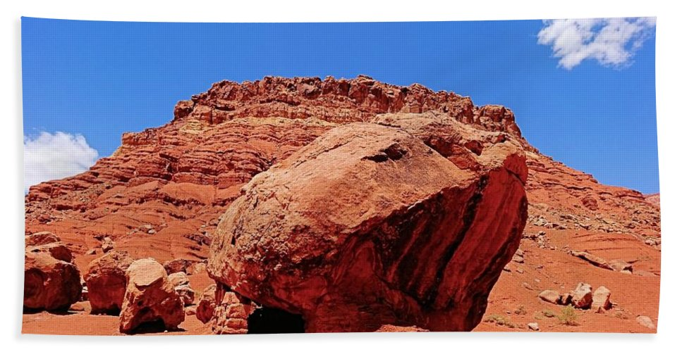 Rock House In Arizona Hand Towel featuring the photograph Rock House In Arizona by Dan Sproul