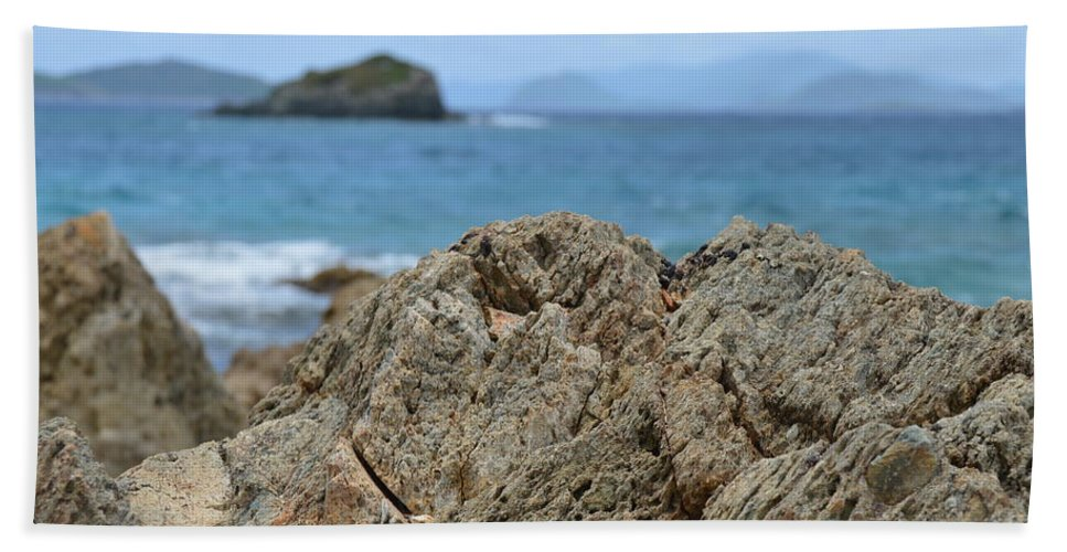 Rock Hand Towel featuring the photograph Rockin' The Caribbean by Richard Booth