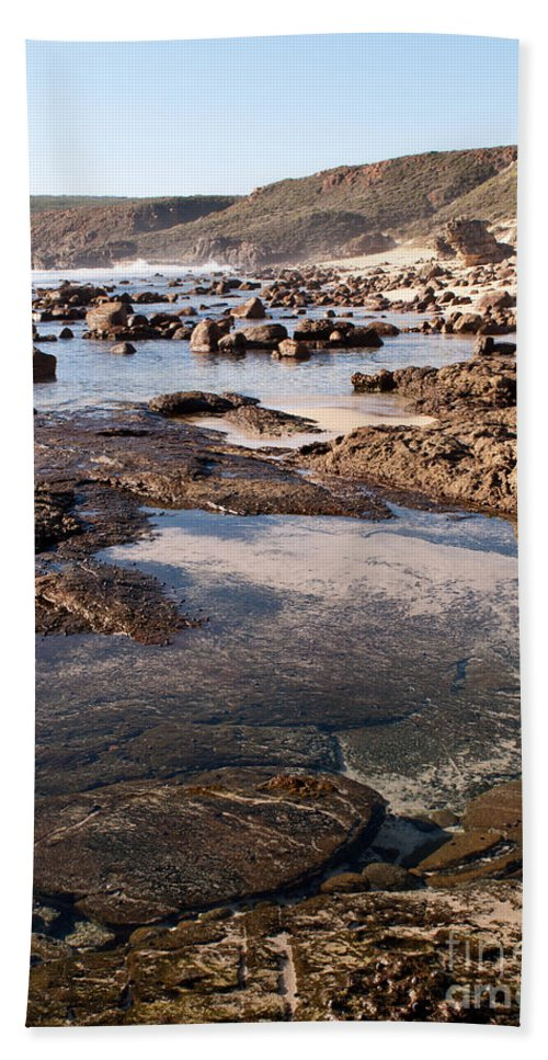 Australia Bath Sheet featuring the photograph Rockpool by Rick Piper Photography