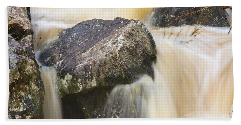 Great Falls Hand Towel featuring the photograph Rocks And Rapids #2 by Stuart Litoff