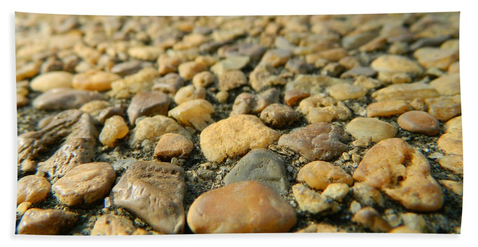 Rock Hand Towel featuring the photograph Rocks On My Path by Andrea Anderegg