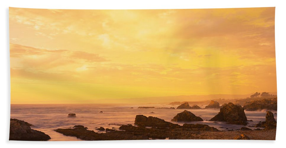 Photography Bath Sheet featuring the photograph Rocks On The Coast, Mendocino by Panoramic Images