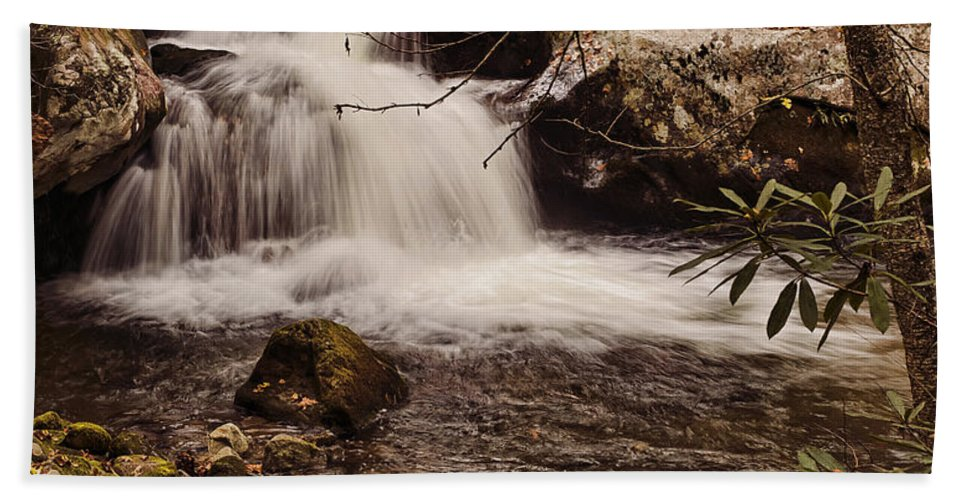 Rocky Fork Bath Sheet featuring the photograph Rocky Fork Falls by Heather Applegate