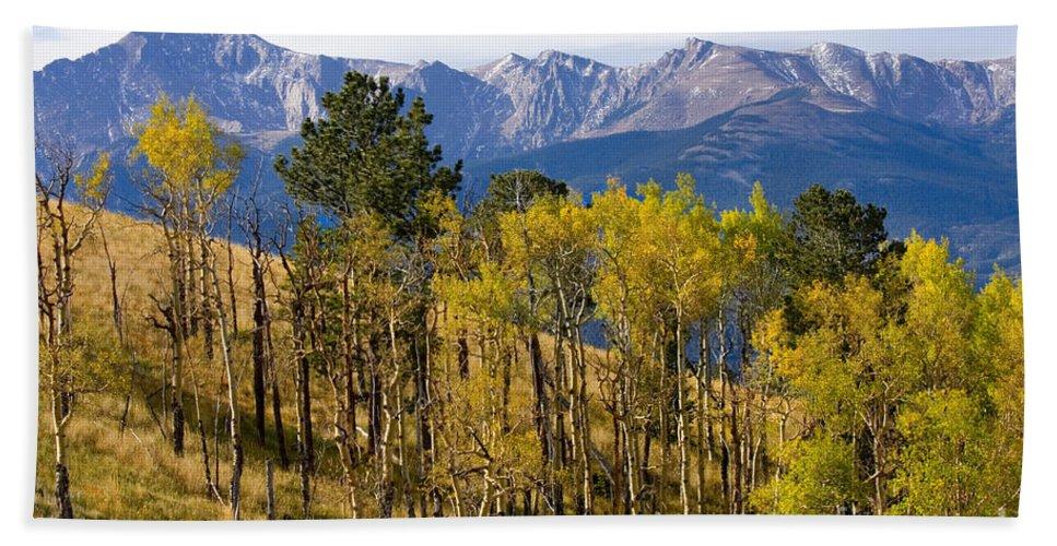 Autumn Hand Towel featuring the photograph Rocky Mountain Autumn by Steve Krull