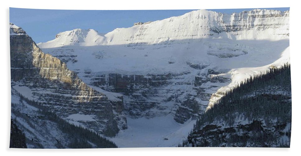 Rocky Mountain Hand Towel featuring the photograph Rocky Mountain Blue by Cheryl Miller