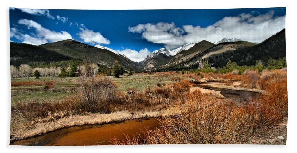 Rocky Mountain National Park Bath Sheet featuring the photograph Rocky Mountain Meadows by Adam Jewell