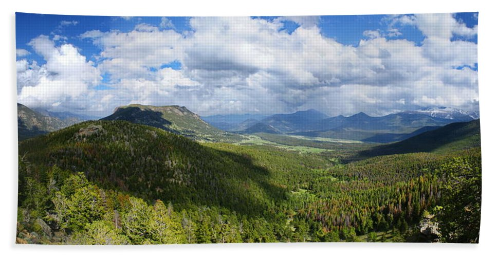 Rocky Mountain National Park Hand Towel featuring the photograph Rocky Mountain National Park Panorama by Alan Hutchins