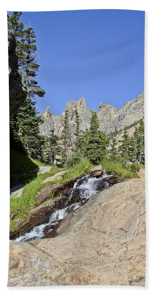 Vertical Bath Sheet featuring the photograph Rocky Mountains by Brian Kamprath