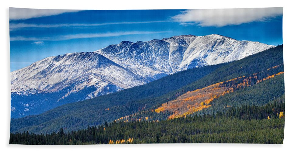 Snow Bath Sheet featuring the photograph Rocky Mountains Independence Pass by James BO Insogna