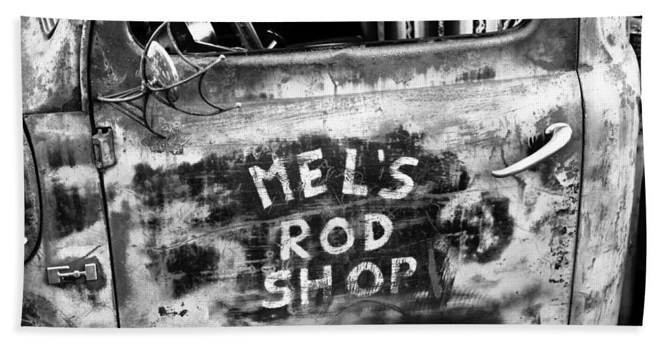 Hot Rod Shop Hand Towel featuring the photograph Rod Shop Truck by David Lee Thompson