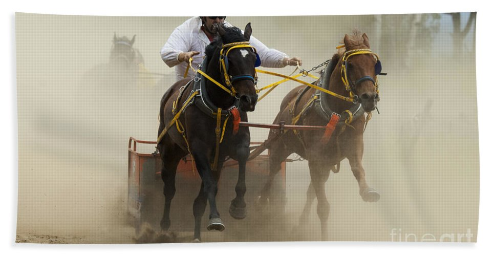 Rodeo Bath Sheet featuring the photograph Rodeo Eat My Dust 1 by Bob Christopher