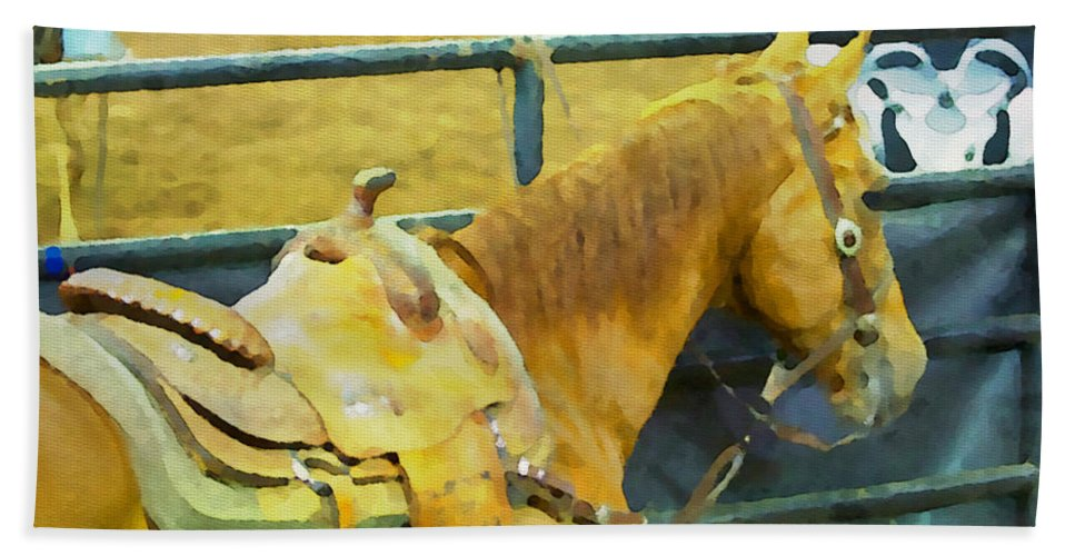 Horse Bath Sheet featuring the photograph Rodeo Horse by Alice Gipson