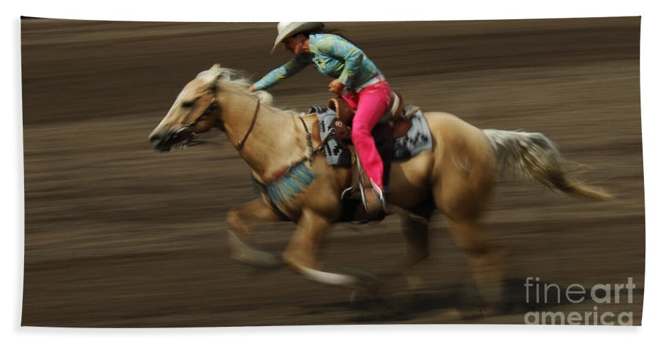 Horse Hand Towel featuring the photograph Rodeo Riding A Hurricane 2 by Bob Christopher