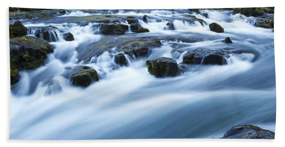 Rogue Bath Sheet featuring the photograph Rogue River Falls 9 by John Brueske