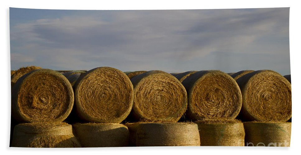 Hay Hand Towel featuring the photograph Rolled Hay  #1056 by J L Woody Wooden