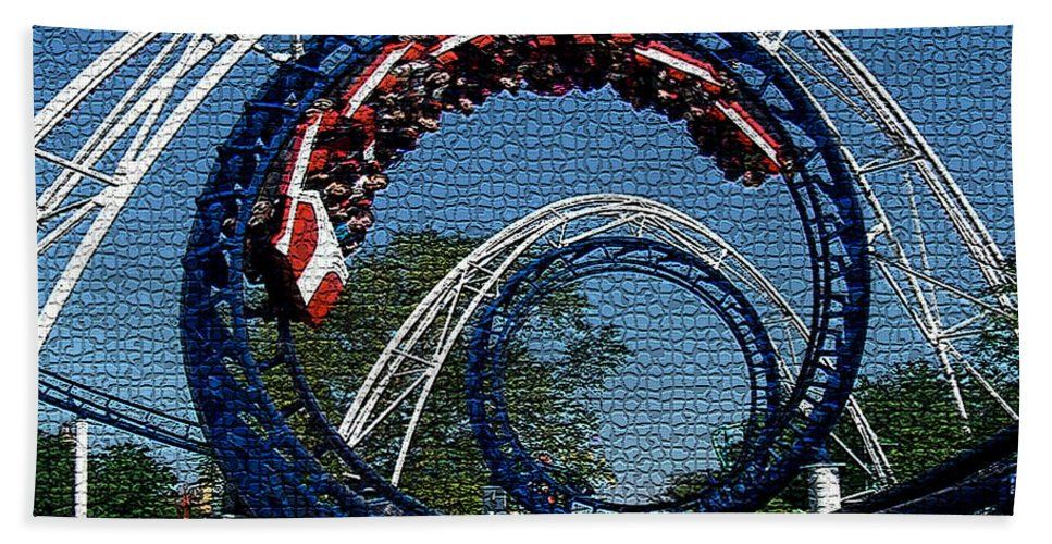 Roller Coaster Digital Art Hand Towel featuring the digital art Roller Coaster 2 by Marvin Blaine