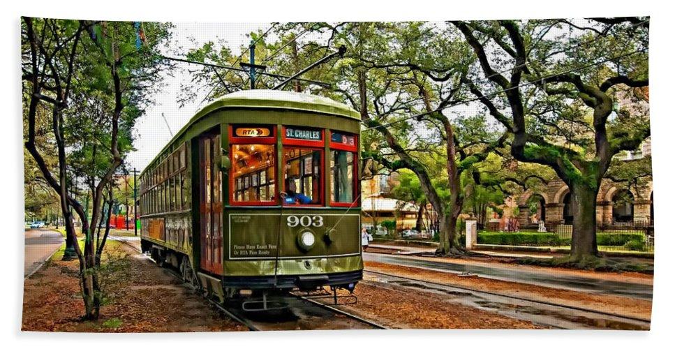 Garden District Bath Sheet featuring the photograph Rollin' Thru New Orleans by Steve Harrington