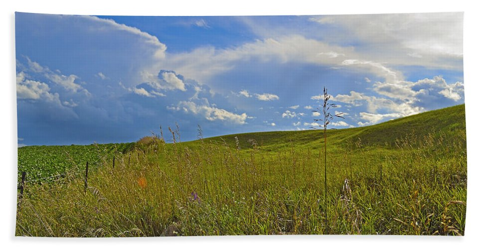 Farm Bath Sheet featuring the photograph Rolling Pasture by Joshua McCullough