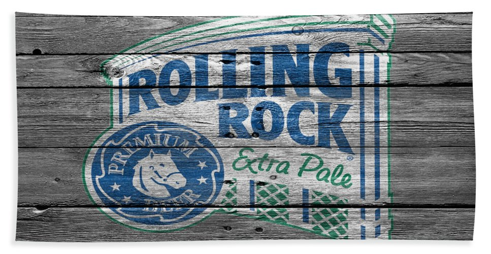 Rolling Rock Hand Towel featuring the photograph Rolling Rock by Joe Hamilton