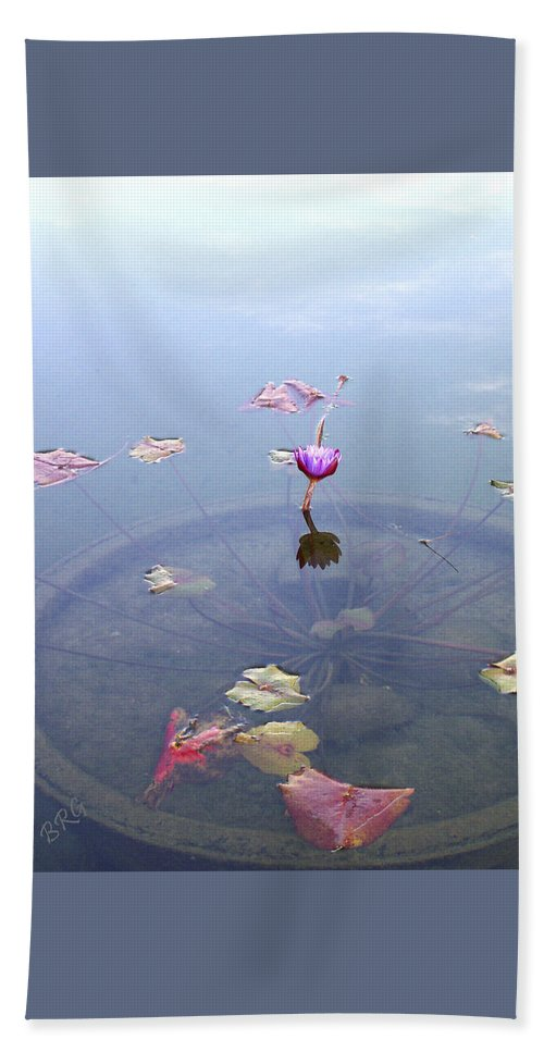 Waterlily Hand Towel featuring the photograph Romantic Pond by Ben and Raisa Gertsberg