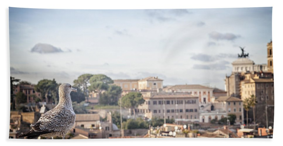 Lookout Hand Towel featuring the photograph Rome Cityscape by Sophie McAulay