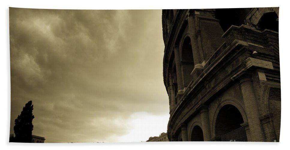 Colosseum Bath Sheet featuring the photograph Rome Colosseum by James Lavott