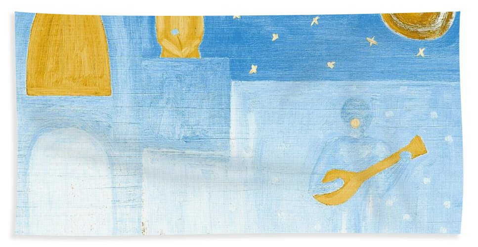 Singing Bath Sheet featuring the painting Romeo And Juliet 5 by Patrick J Murphy