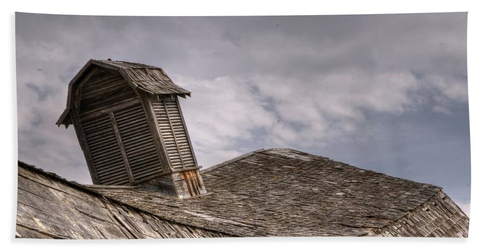 Roof Hand Towel featuring the photograph Roof Detail End Of An Era by Vivian Christopher