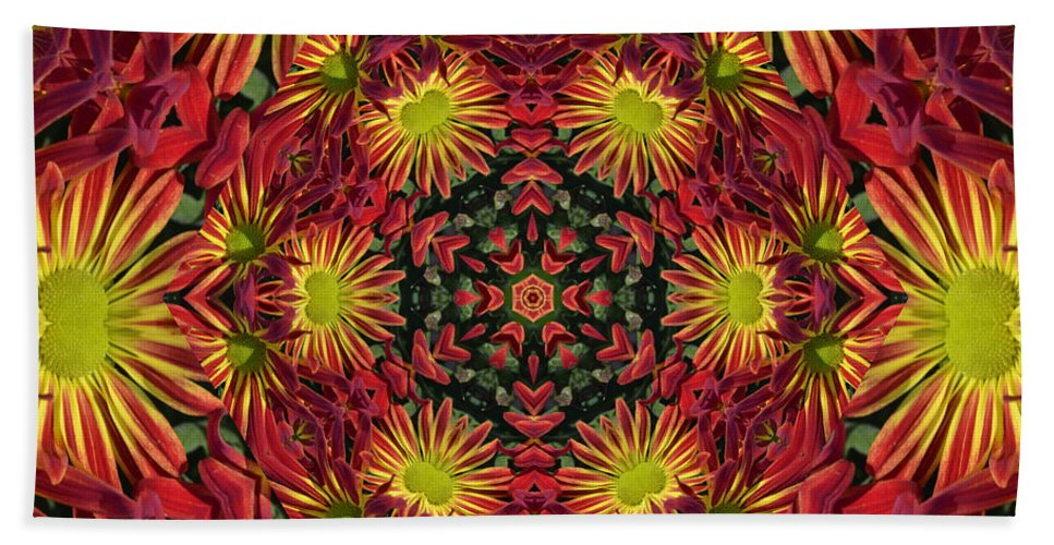 Kaleidoscope Hand Towel featuring the photograph Roomum by Judy Wolinsky