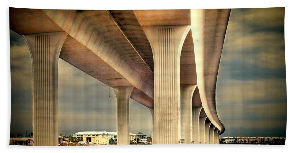 Bridge Bath Towel featuring the photograph Roosevelt Bridge-1 by Rudy Umans