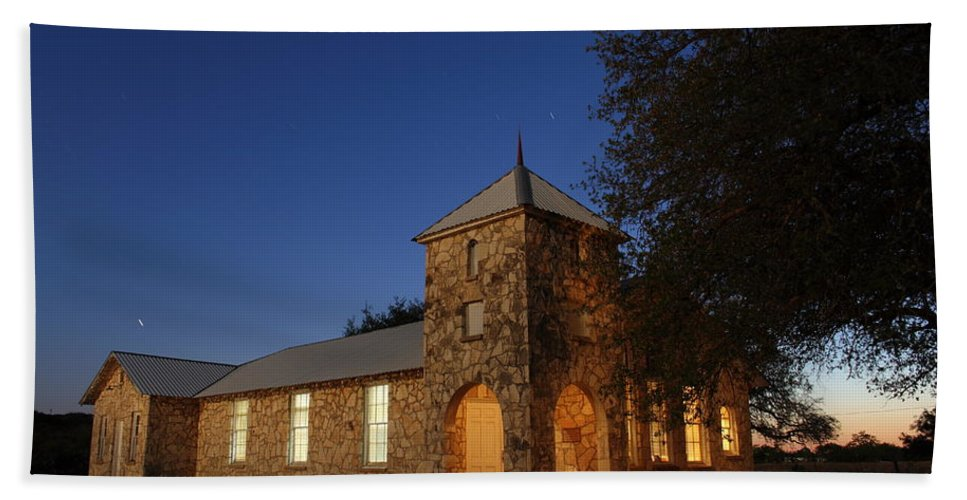Church Hand Towel featuring the photograph Roosevelt Church 2am-105379 by Andrew McInnes