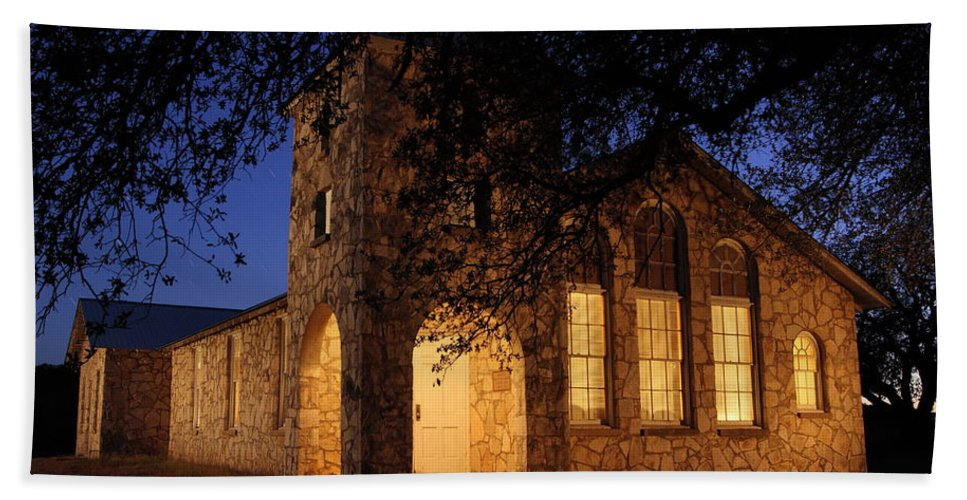 Church Hand Towel featuring the photograph Roosevelt Church 2am-106055 by Andrew McInnes