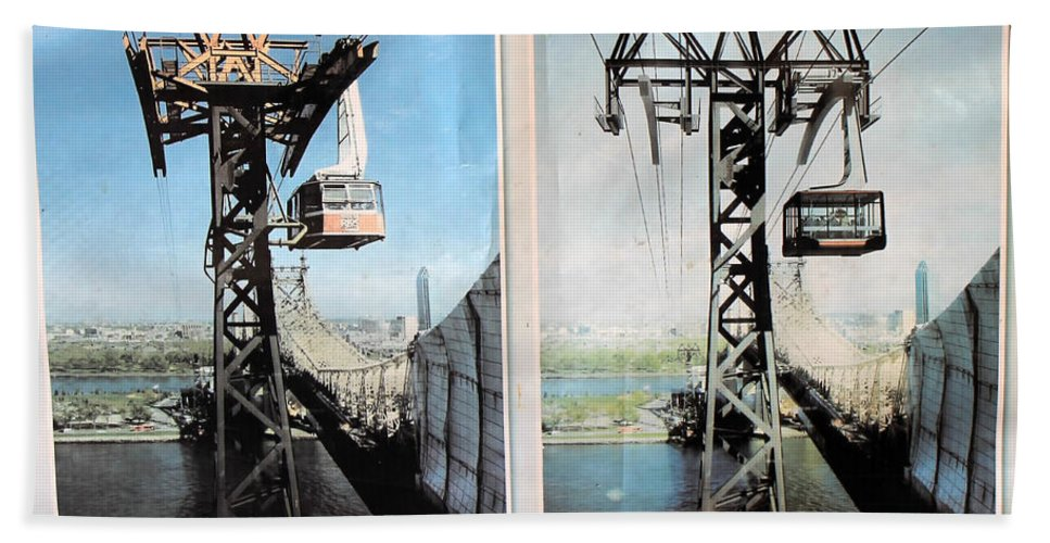 Nyc Bath Sheet featuring the photograph Roosevelt Island Tramway by Andrew Fare