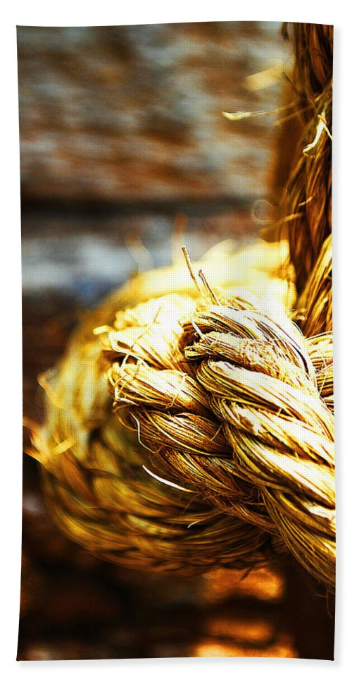 Becky Furgason Hand Towel featuring the photograph #rope by Becky Furgason