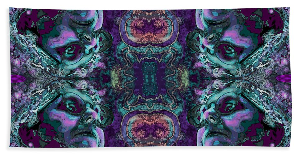 Rorschach Hand Towel featuring the digital art Rorschach Me by Carol Jacobs