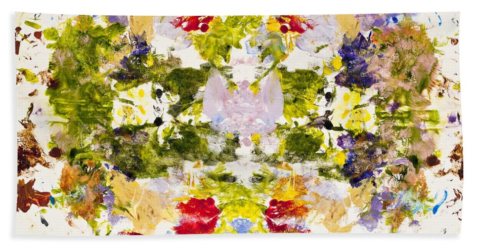 Rorschach Hand Towel featuring the painting Rorschach Test by Darice Machel McGuire