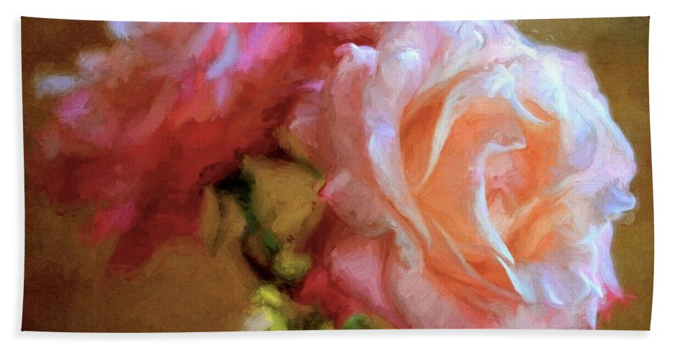 Floral Bath Sheet featuring the photograph Rose 166 by Pamela Cooper