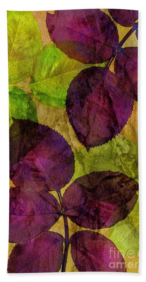 Claudia's Art Dream Bath Sheet featuring the photograph Rose Clippings Mural Wall by Claudia Ellis