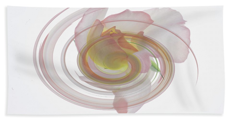 Rose Hand Towel featuring the photograph Rose Swirl by James Ekstrom