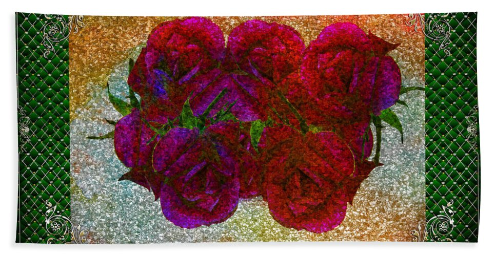 Rose Hand Towel featuring the photograph Roses- Featured In Beautiful Roses And Comfortable Art Groups by Ericamaxine Price
