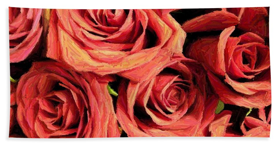 Rose Bath Sheet featuring the photograph Roses For Your Wall by Joseph Baril