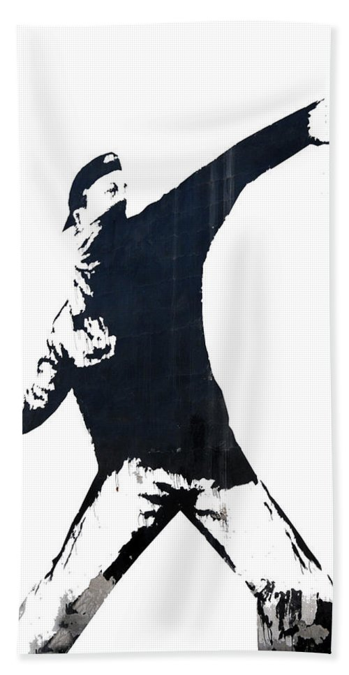 Banksy Hand Towel featuring the photograph Roses by Munir Alawi