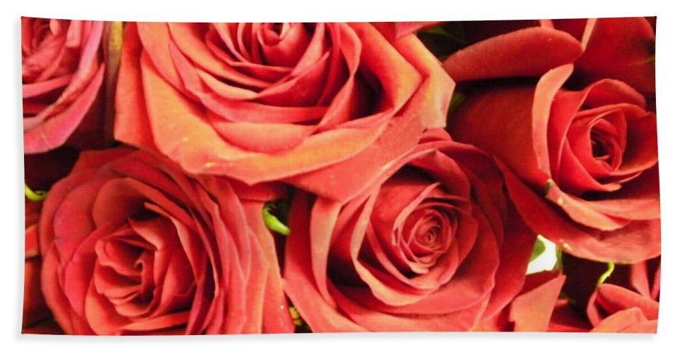 Wall Bath Sheet featuring the photograph Roses On Your Wall by Joseph Baril